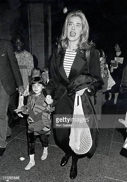 Lorraine Bracco and Daughter during A Big Apple Circus Performance to Benefit the Scott Newman Drug Center at Lincoln Center in New York City New...