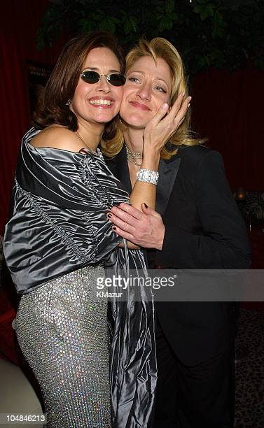 Lorraine Bracco and Edie Falco during The 58th Annual Golden Globe Awards HBO After Party at Beverly Hilton in Los Angeles California United States