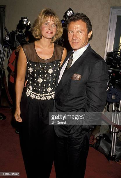 Lorraine Bracco and Harvey Keitel during Goodfellas Los Angeles Premiere at Mann's Bruin Theater in Westwood California United States