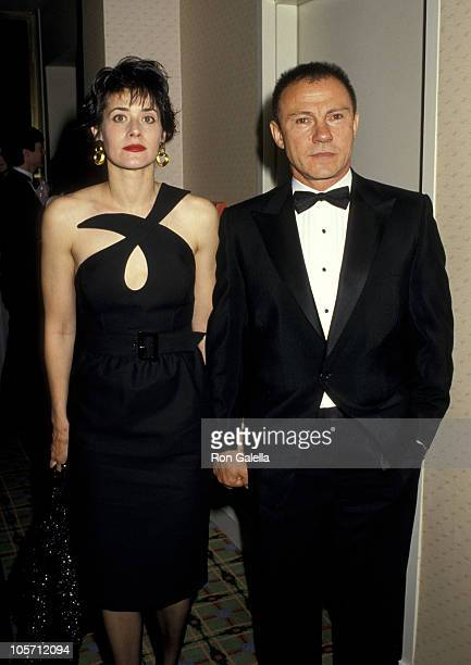 Lorraine Bracco and Harvey Keitel during Vietnam Veterans Benefit - May 27, 1987 at Waldorf Hotel in New York City, New York, United States.