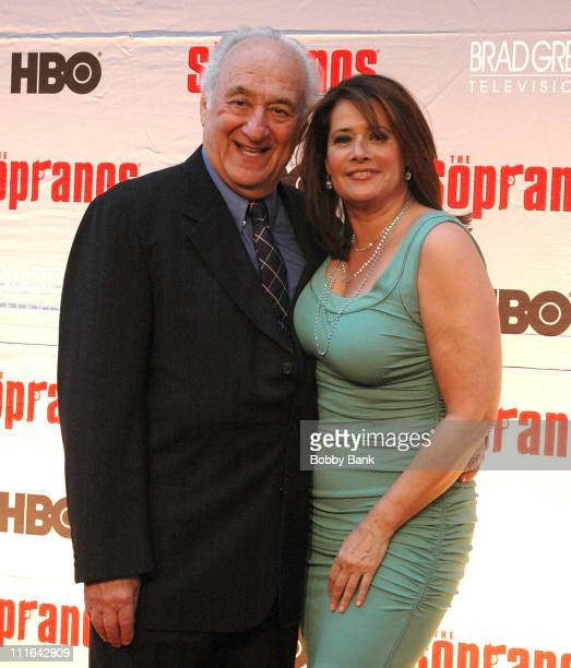 Lorraine Bracco and Jerry Adler during The Sopranos Final Season World Premiere Arrivals at Radio City Music Hall in New York City New York United...