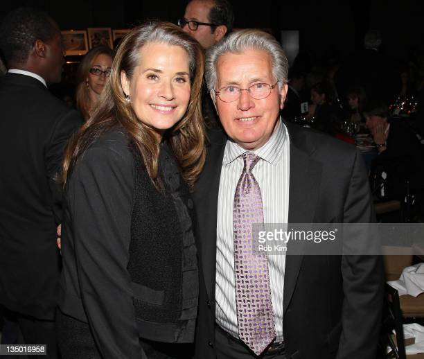 Lorraine Bracco and Martin Sheen attend the Robert F Kennedy Center for Justice and Human Rights 2011 Ripple of Hope Awards dinner at Pier Sixty at...