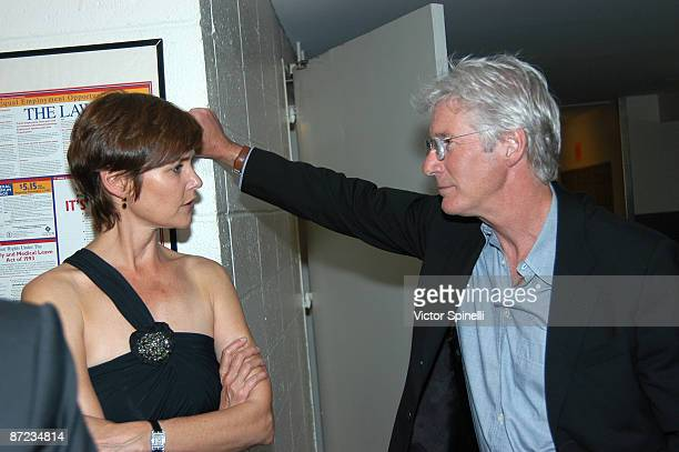 Lorraine Bracco and Richard Gere attends the 2009 James Beard Foundation Awards Ceremony and Gala at Avery Fisher Hall at Lincoln Center for the...