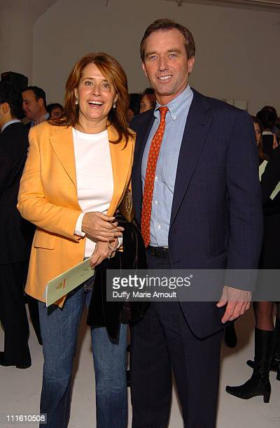 Lorraine Bracco and Robert F Kennedy Jr during Robert F Kennedy Jr Hosts 2nd Benefit Photo Auction for Riverkeeper at Boylan Studios in New York City...