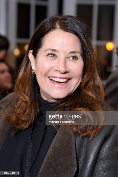 """Lorraine Bracco attends the """"Final Portrait"""" New York Screening After Party at Levy Gorvy Gallery on March 22, 2018 in New York City."""