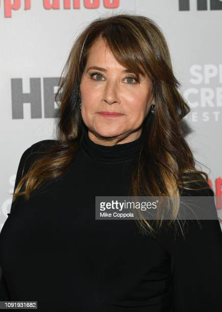 Lorraine Bracco attends the The Sopranos 20th Anniversary Panel Discussion at SVA Theater on January 09 2019 in New York City