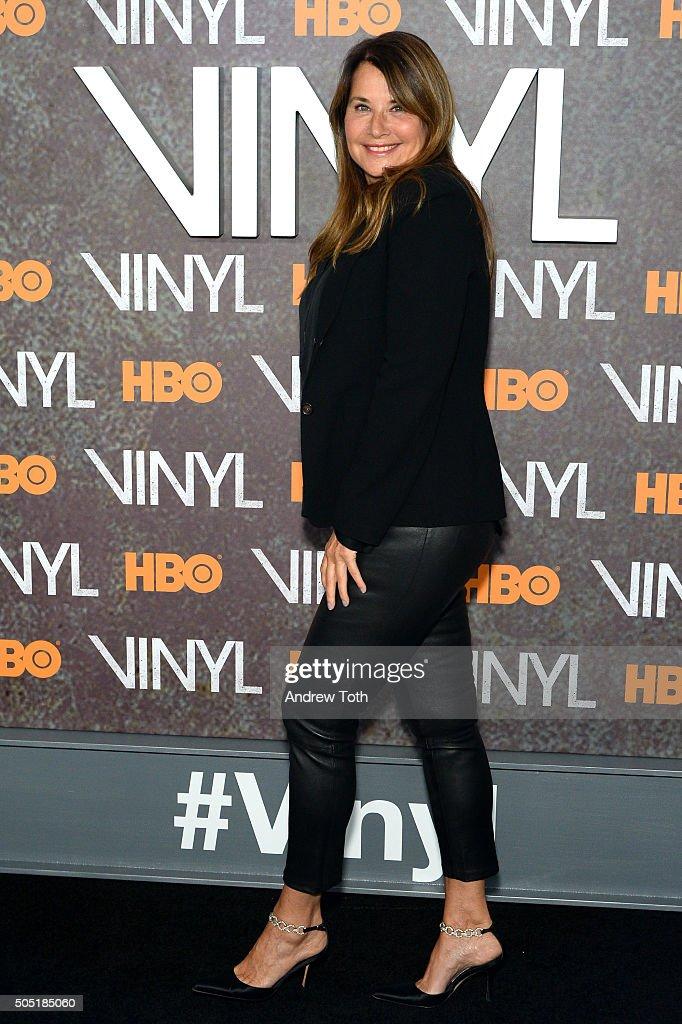 Lorraine Bracco attends the 'Vinyl' New York premiere at Ziegfeld Theatre on January 15, 2016 in New York City.