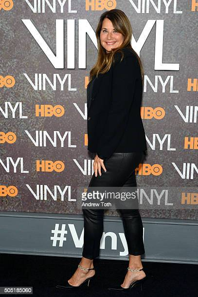 Lorraine Bracco attends the Vinyl New York premiere at Ziegfeld Theatre on January 15 2016 in New York City