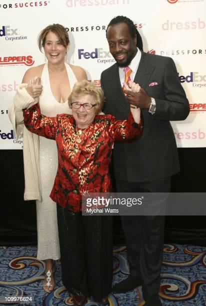 Lorraine Bracco Dr Ruth Westheimer and Wyclef Jean