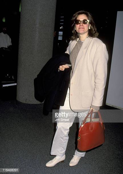 Lorraine Bracco during Lorraine Bracco Sighting at Los Angeles International Airport February 28 1993 at Los Angeles International Airport in Los...