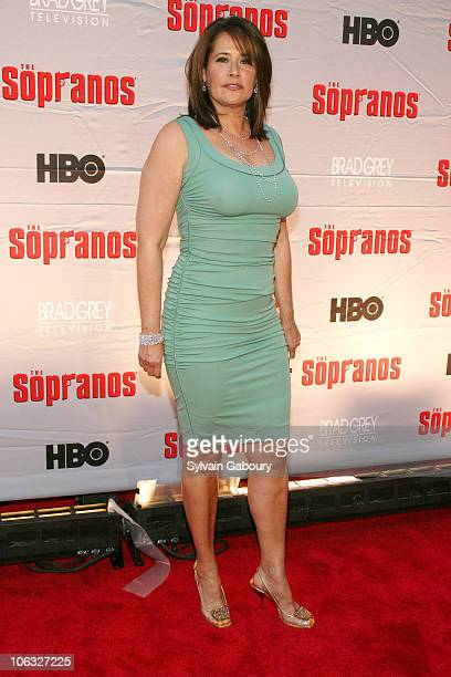 Lorraine Bracco during The Sopranos Final Season World Premiere Arrivals at Radio City Music Hall in New York City New York United States