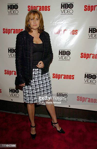 Lorraine Bracco during 'The Sopranos The Complete 5th Season' DVD Release Party Hosted by HBO Video at English is Italian in New York City New York...