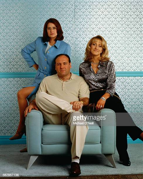 Lorraine Bracco James Gandolfini and Edie Falco