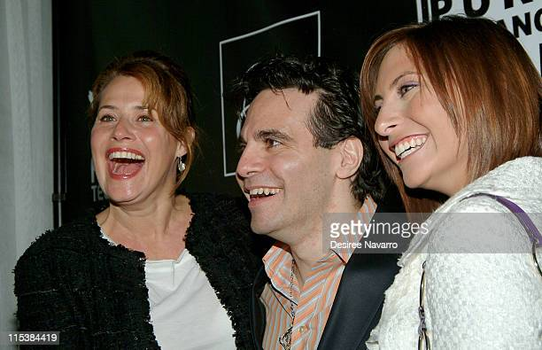 Lorraine Bracco Mario Cantone and Stella Keitel during Premiere Party for Mario Cantone's Laugh Whore on Showtime at The Garden of Ono in New York...