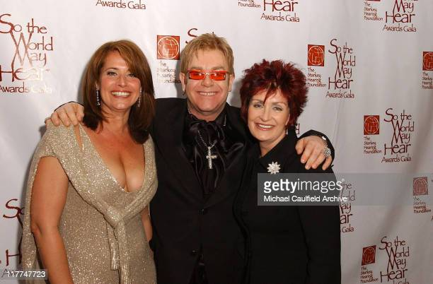 Lorraine Bracco Sir Elton John and Sharon Osbourne