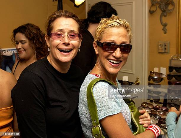 Lorraine Bracco wearing Gucci 178 STS Sunglasses and Edie Falco
