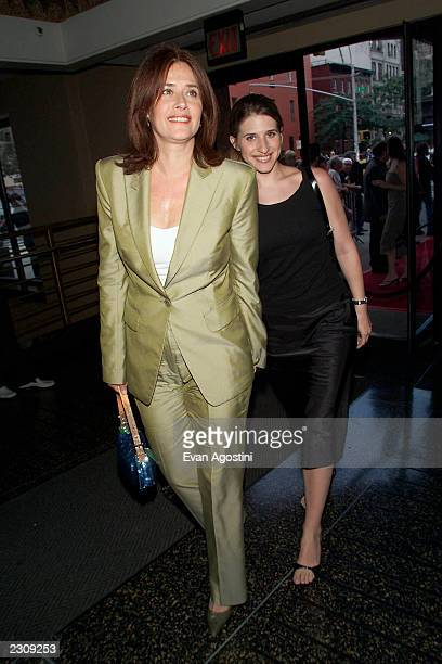 Lorraine Bracco with daughter Margaux attend the 'Made' film premiere at the Village East Theater in New York City Photo Evan Agostini/ImageDirect