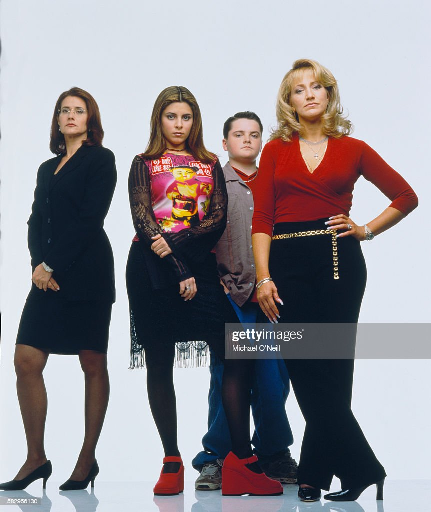 Lorraine Bracco with Jamie-Lynn Sigler, Robert Iler and Edie Falco