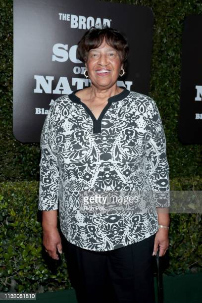 Lorraine Bradley attends The Broad Museum celebration for the opening of Soul Of A Nation Art in the Age of Black Power 19631983 Art Exhibition at...