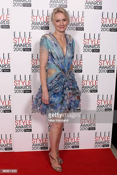 Lorraine Candy arrive for the ELLE Style Awards 2010 at the Grand Connaught Rooms on February 22 2010 in London England