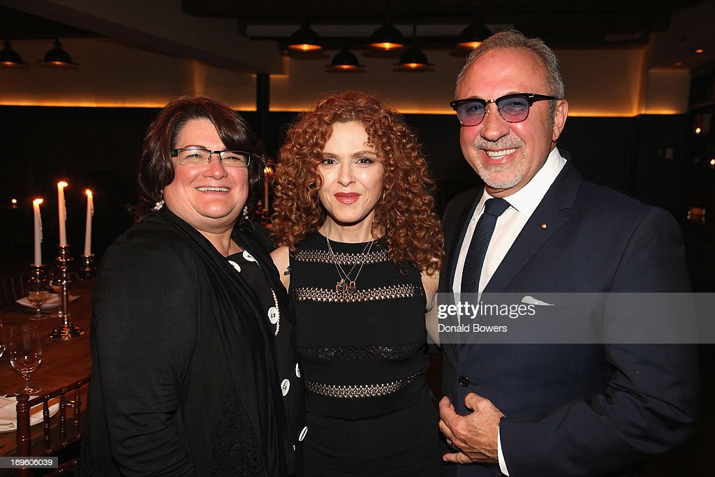 Lorraine Cortes, Bernadette Peters and Emilio Estefan attend The Launch of AARP's 'Life Reimagined' hosted by Emilio Estefan and Dan Marino at La Bottega Trattoria at The Soho House on May 28, 2013 in New York City.