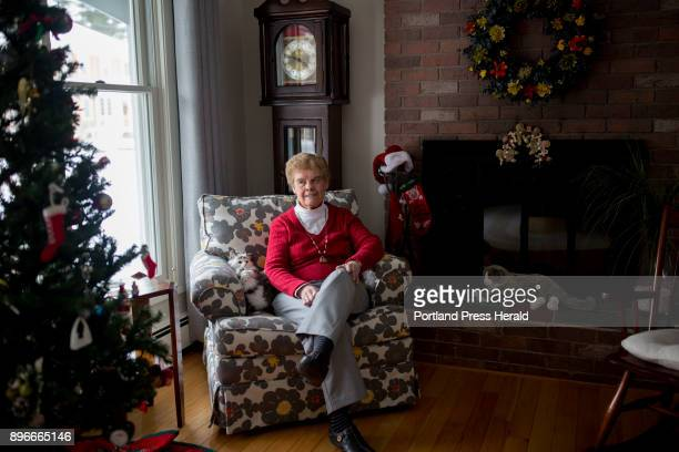 Lorraine Dutile Masure poses for a portrait at her home in Sanford Dutile Masure who grew up in Sanford and is now 83 still makes her FrenchCanadian...