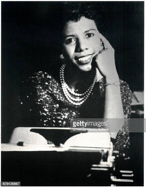 Lorraine Hansberry American Playwright and Writer Portrait circa 1960