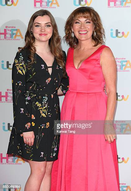 Lorraine Kelly and daughter Rosie Smith attend the Lorraine's High Street Fashion Awards at Grand Connaught Rooms on May 17, 2016 in London, England.