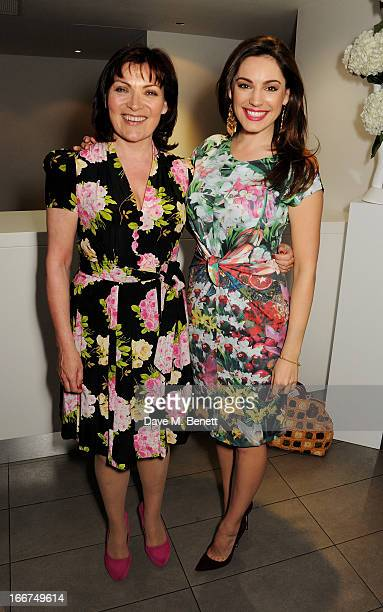 Lorraine Kelly and Kelly Brook attend a drink reception celebrating 'An Evening With Chickenshed' a cabaret performance in aid of inclusive theatre...
