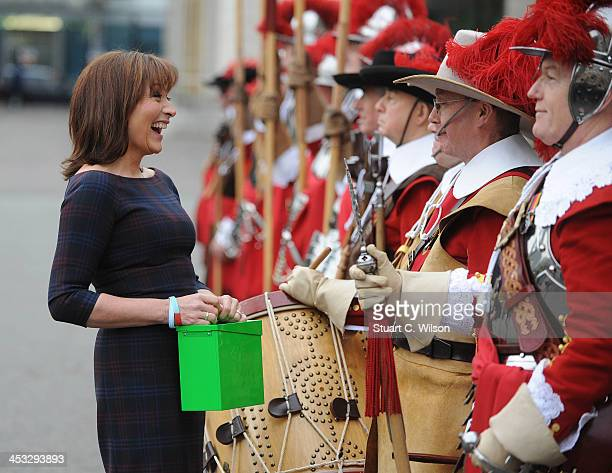 Lorraine Kelly attends a photocall to launch the UK4U Christmas box appeal at Armoury House on December 3 2013 in London England