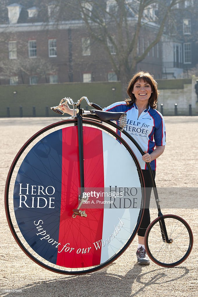 Lorraine Kelly attends as the Help For Heroes Hero Ride is launched at Horse Guards Parade on March 5, 2013 in London, England.