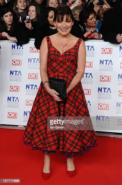 Lorraine Kelly attends the National Television Awards 2012 at the 02 Arena on January 25 2012 in London England