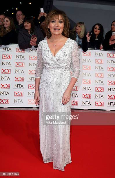 Lorraine Kelly attends the National Television Awards at 02 Arena on January 21 2015 in London England