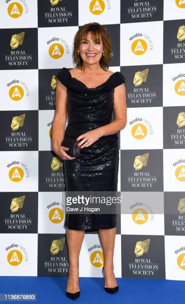 Lorraine Kelly attends the Royal Television Society Programme Awards at Grosvenor House on March 19 2019 in London England