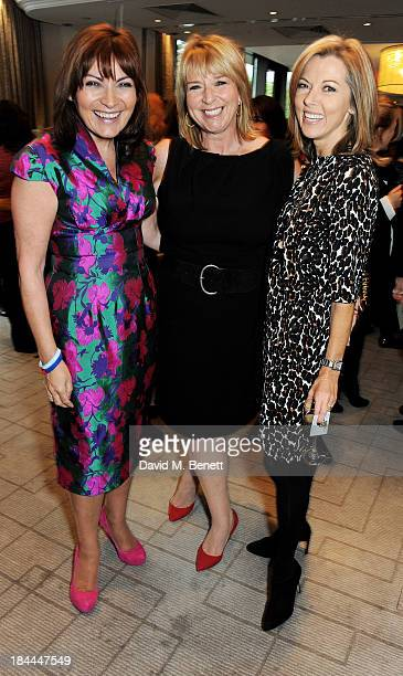 Lorraine Kelly Fern Britton and Mary Nightingale attend the 58th Women of the Year lunch at the InterContinental Park Lane Hotel on October 14 2013...