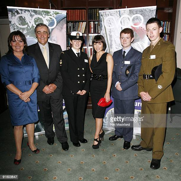 Lorraine Kelly , Gerald Cavendish Grosvenor, Duke Of Westminster and Danni Minogue attends the launch photocall for the CVQO Appeal on October 6,...
