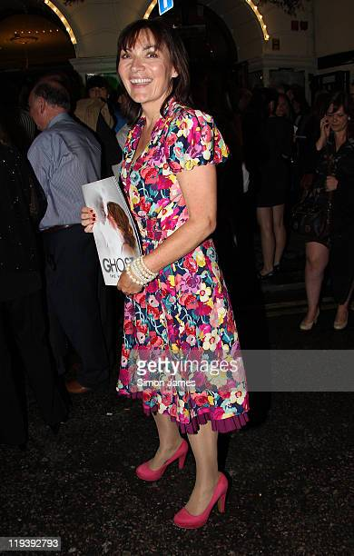 Lorraine Kelly is seen leaving Ghost the musical press night on July 19 2011 in London England