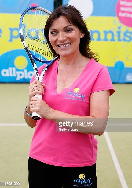 Lorraine Kelly poses during the allplay Challenge Media Event at Wimbledon Park Tennis Courts on June 21 2011 in London England