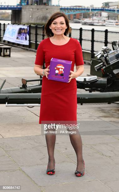Lorraine Kelly prepares to launch the uk4u Thanks 2011 Christmas Box campaign at the Tower of London in London by firing the the Honourable Artillery...