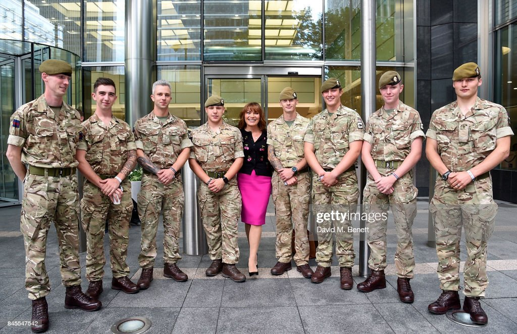 Lorraine Kelly, representing Centrepoint, attends BGC Charity Day on September 11, 2017 in Canary Wharf, London, United Kingdom.