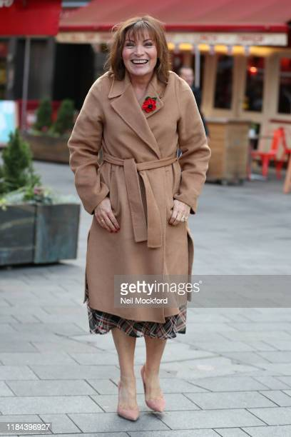Lorraine Kelly seen arriving at Heart Radio Studios on October 30 2019 in London England