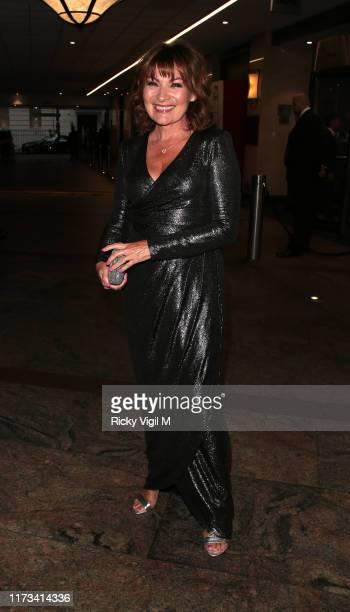 Lorraine Kelly seen attending The TV Choice Awards at London Hilton Park Lane on September 09 2019 in London England