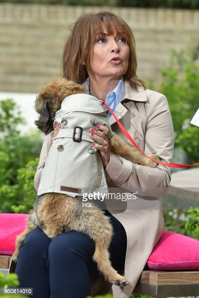 Lorraine Kelly seen with her dog Angus on April 24 2018 in London England