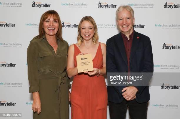 Lorraine Kelly Winner Hannah Lynn and Doug Gurr attend the Kindle Storyteller Award 2018 at The Royal Society on October 3 2018 in London England