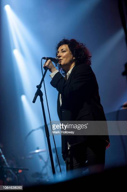 Lorraine Mcintosh of Deacon Blue performing on stage at BIC Bournemouth on November 22 2018 in Bournemouth England