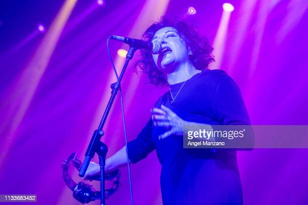 Lorraine Mcintosh of Deacon Blue performing on stage at La Riviera on March 04 2019 in Madrid Spain