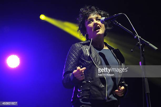Lorraine McIntosh of Deacon Blue performs at Sheffield City Hall on December 5 2013 in Sheffield England