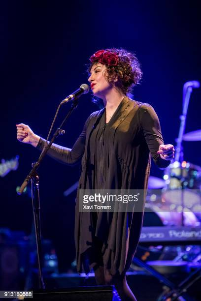 Lorraine McIntosh of Deacon Blue performs in concert at sala Barts during Guitar BCN 2018 on February 1 2018 in Barcelona Spain