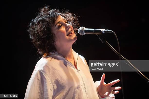 Lorraine McIntosh of Deacon Blue performs on stage at Sala Apolo on March 06 2019 in Barcelona Spain
