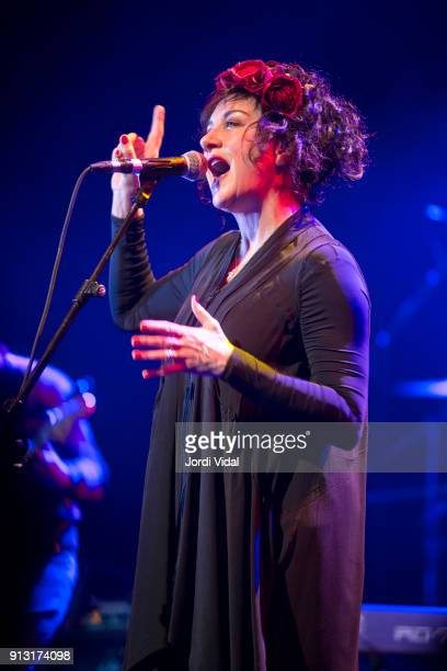 Lorraine McIntosh of Scottish Band Deacon Blue performs on stage during Barcelona Guitar Festival at Sala Barts on February 1 2018 in Barcelona Spain